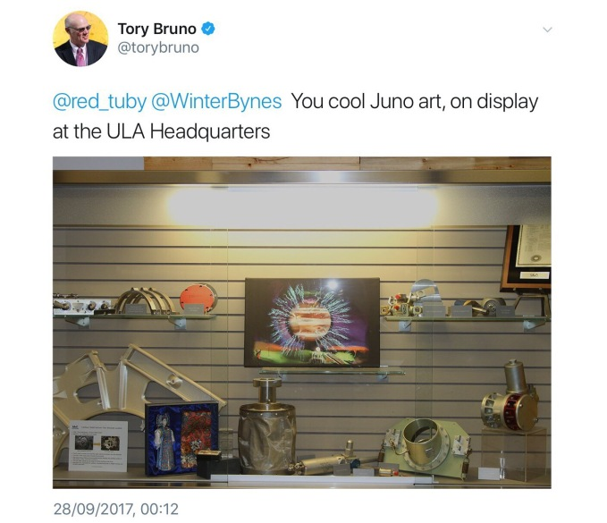 Tory Bruno's Tweet